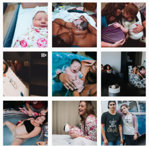 birth photography Instagram feeds - tampabirthphotographer