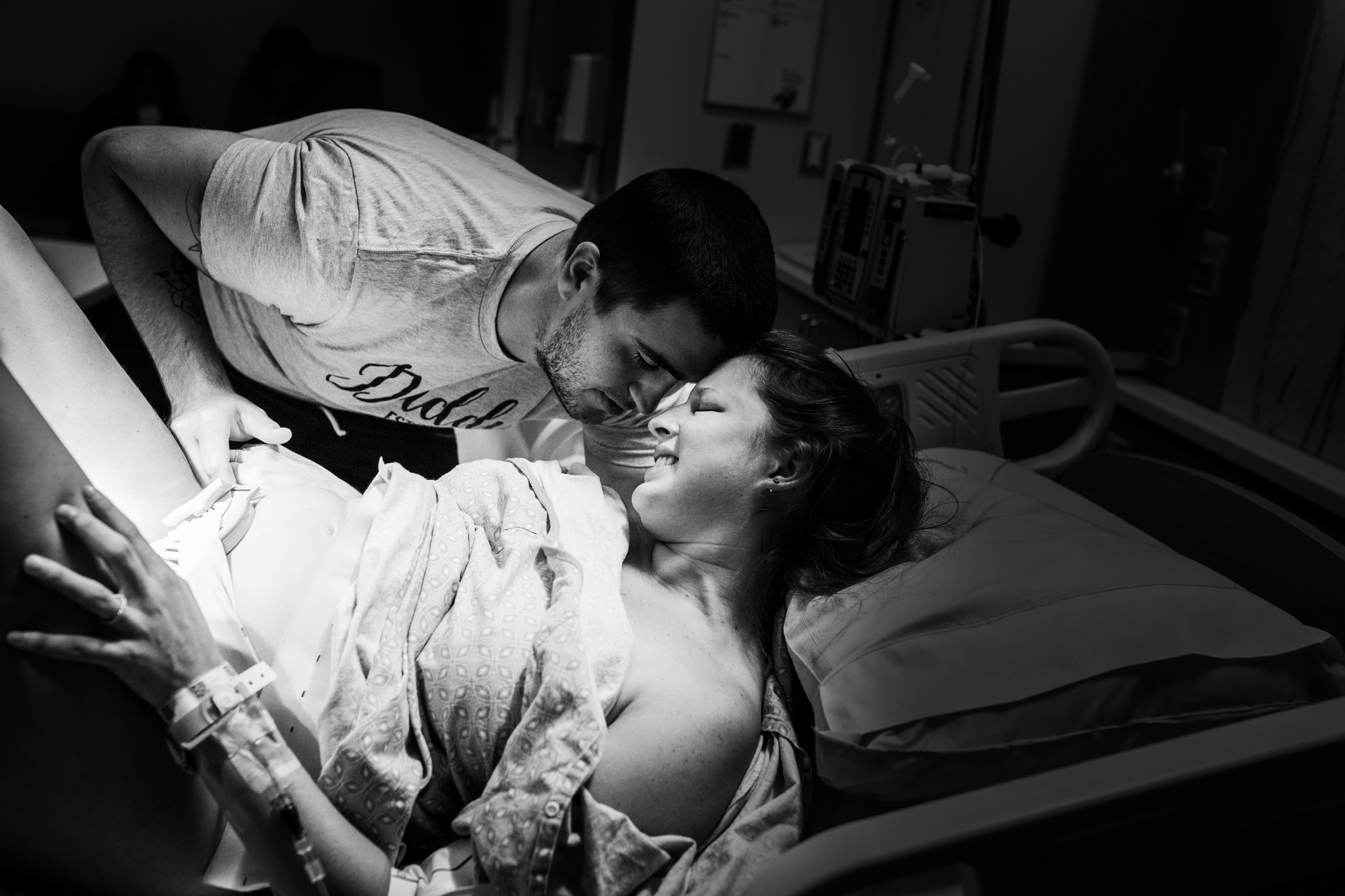 So in love and working together to bring their baby into the world.